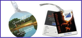 Article promotionnel, objet promotionnel, Étiquette pour bagage personnalisé