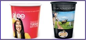 Article promotionnel, objet promotionnel, Tasses en carton personnalisées, tasses en plastique personnalisées