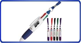 Stylos promotionnels personnalisés avec cordon au cou