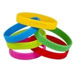 Bracelets en silicone personnalisé, bracelets dé-bossé