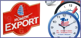 Article promotionnel, objet promotionnel, horloge personnalisée