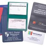 article promotionnel imprimé, article promotionnel utile, étui pour papiers d'assurance fourni par équipe Promo-Pro, Promo-Professionnelle inc, www.promo-pro.com ou www.promopro.ca