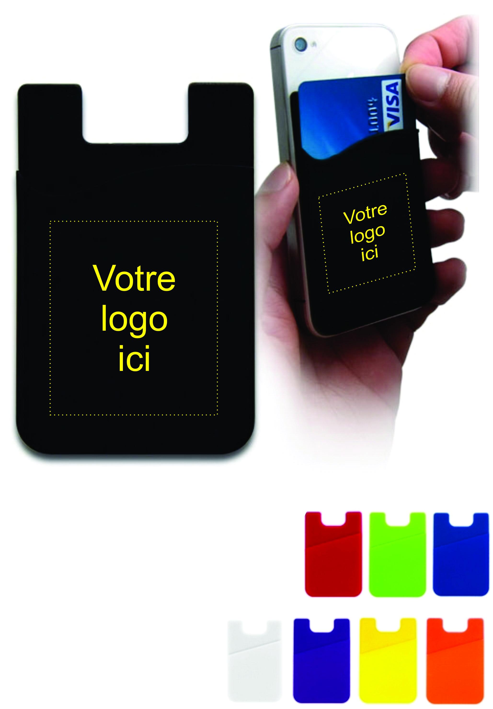 Porte carte en silicone personnalisé